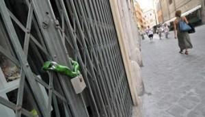 Foto LaPresse 14-08-2013 Roma Cronaca Negozi aperti nelle vie dello shopping, chiusure dei negozi nelle vie minori,