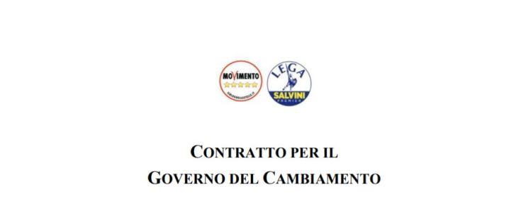 M5S e Lega Salvini - Contratto Per Il Governo del Cambiamento
