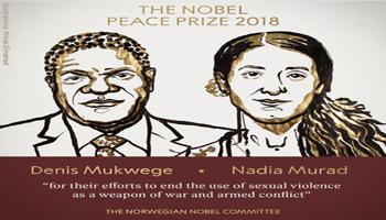 Il premio Nobel per la Pace assegnato a Denis Mukwege e Nadia Murad