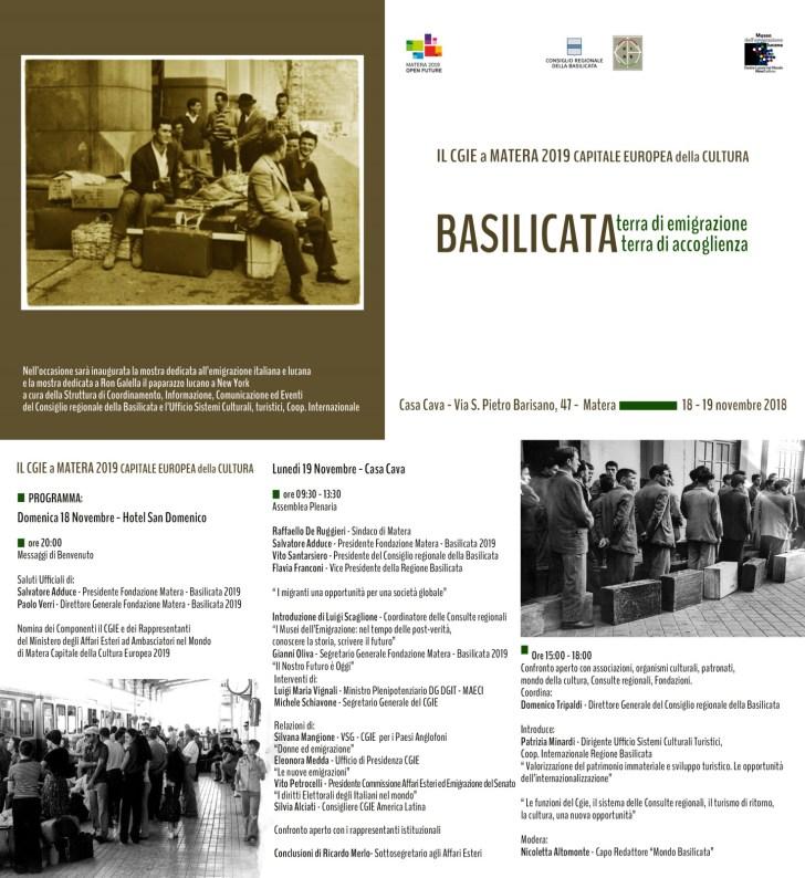 CGIE - Matera - Mostra Sull Immigrazione Italiana e Lucana