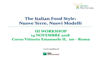 """The Italian Food Style: nuove terre, nuovi modelli"""