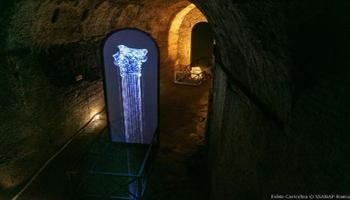 """L'arte di Plessi rende omaggio alle Terme di Caracalla: svelate le gallerie """"segrete"""" dei sotterranei"""