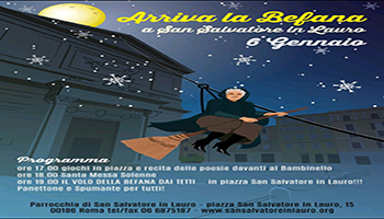 Arriva la Befana in San Salvatore in Lauro – 6 Gennaio