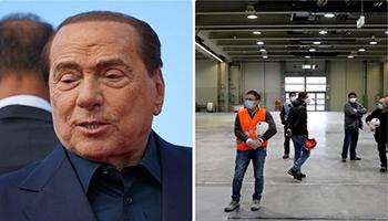 Berlusconi dona 10 milioni per i posti in terapia intensiva alla Fiera di Milano
