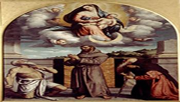 Madonna in gloria con il Bambino e i santi Girolamo, Francesco e Antonio abate