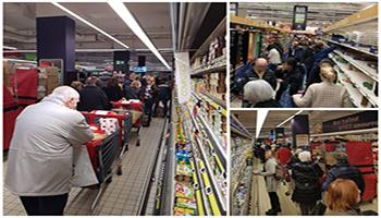 Francia, il Supermercato, meta favorita dei francesi nel lockdown