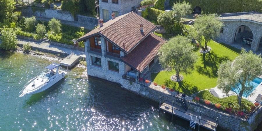 villa anna ossuccio boat mooring