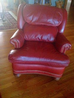 leather sofa atlanta ga rent online chair body oil damage, repair & redyed, new foam ...