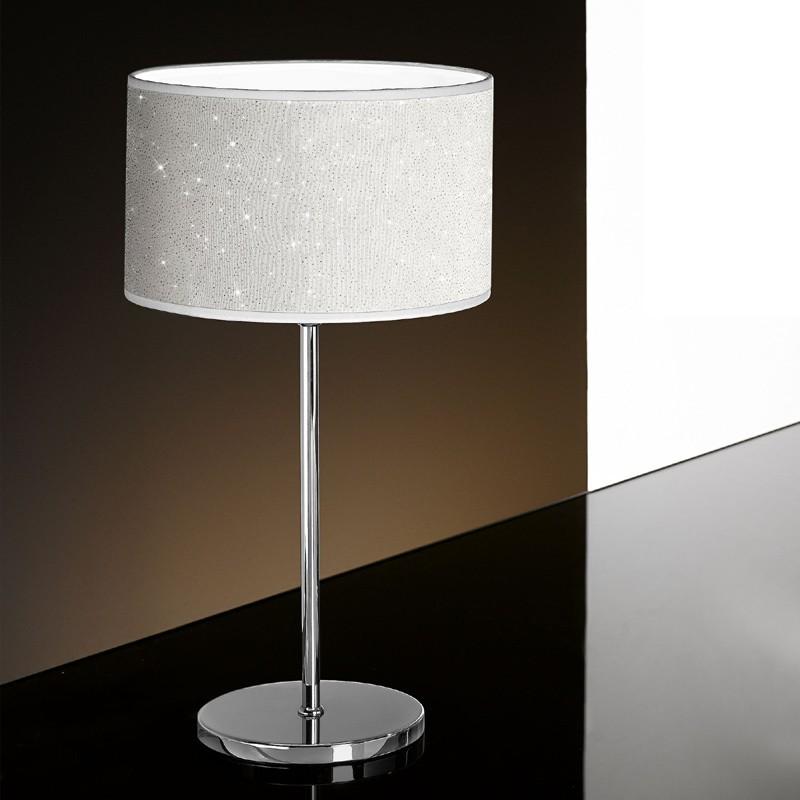Lampada Tavolo Comodino Moderno  Glitter di Antea Luce Illuminazione