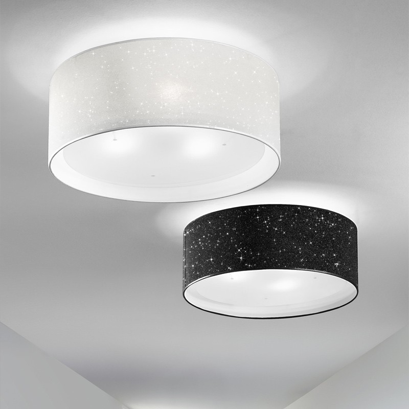 Lampada Plafoniera Paralume Moderno  Glitter Antea Luce Illuminazione