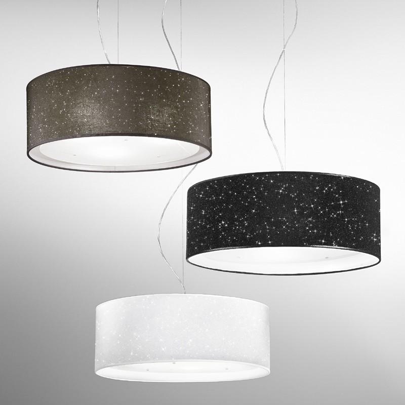 Lampada Sospensione Paralume Moderno  Glitter AnteaLuce Illuminazione