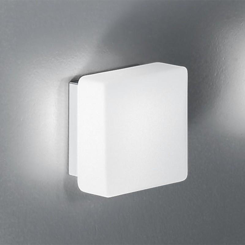 KREA QUADRA Applique Vetro Soffiato L11 LED Design Moderno Antea Luce