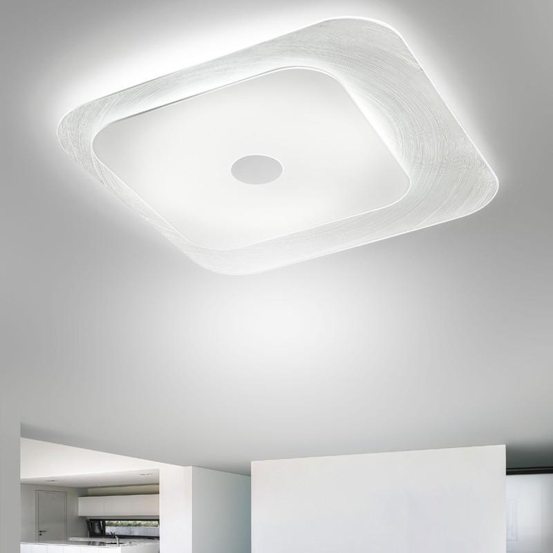 Lampada LED A Soffitto Vetro Quadro Moderno Fuoriskema di