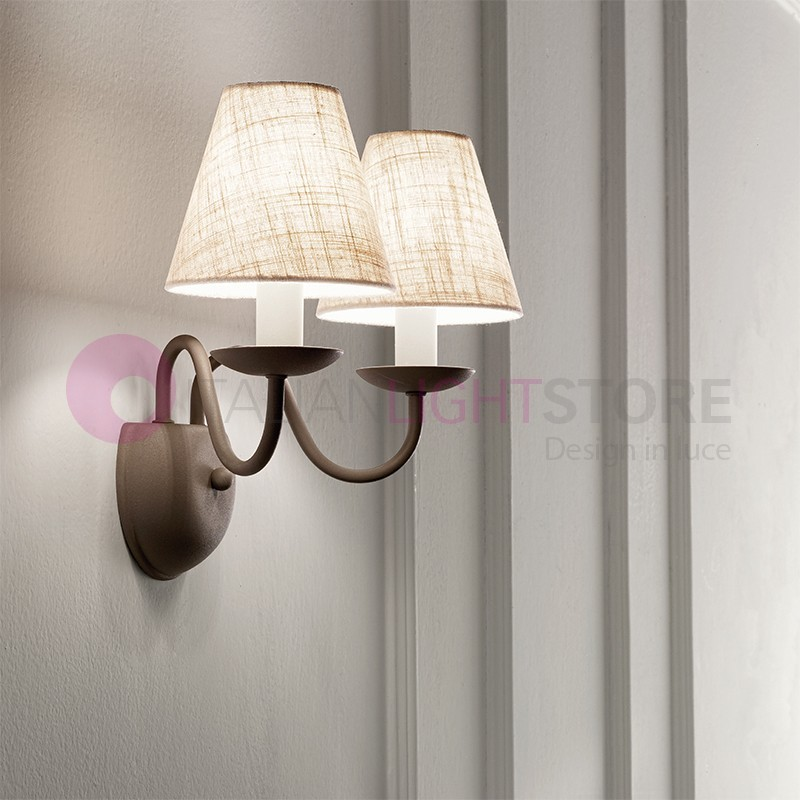 CHARME GREY Applique Classica 2 luci Stile Fiammingo