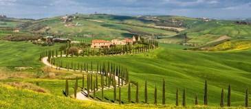 Countryside near Asciano, Tuscany, Italy