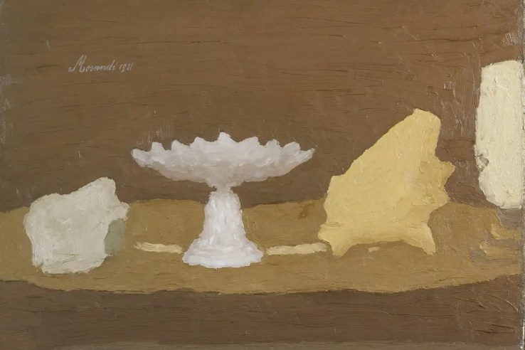 Giorgio Morandi, Still Life, 1931, Oil on Canvas, 54 x 64 cm @2015 Artists Rights Society (ARS), New York / SIAE, Rome. Reproduction, including downloading of Giorgio Morandi works, is prohibited by copyright laws and international conventions without the express written permission of Artists Rights Society (ARS), New York