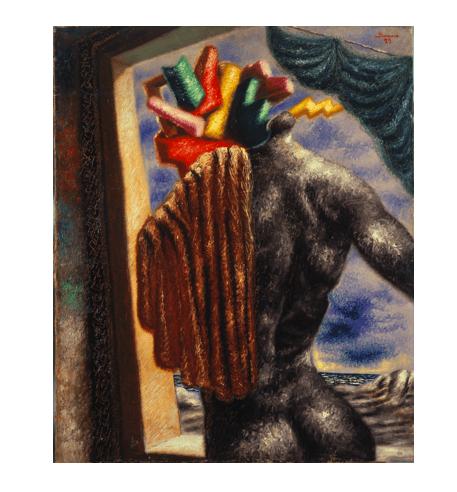 """Alberto Savinio, """"Prometeo (Prometheus),"""" 1929. Private Collection, Courtesy Galleria Tega, Milan (c) 2017 Artists Rights Society (ARS) / SIAE, Rome."""