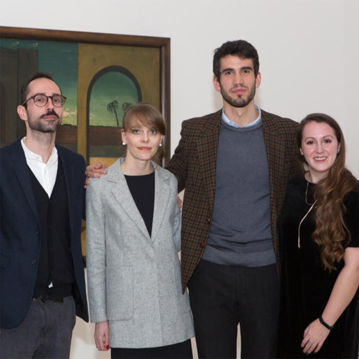 CIMA's 2016-17 Fellows: Fabio Cafagna, Maria Bremer, Giovanni Casini, and Sophia Farmer