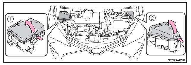 Toyota Yaris Hybrid: Controllo e sostituzione dei fusibili
