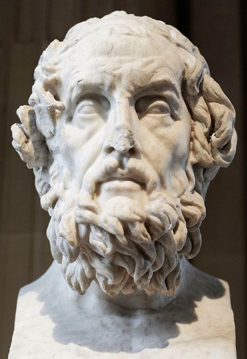 Ritratto immaginario di Omero, copia romana del II secolo d.C. di un'opera greca del II secolo a.C. Conservato al Museo del Louvre di Parigi0
