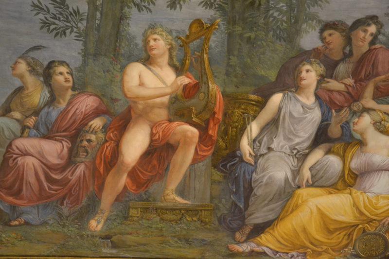 Villa Reale, Milano, Andrea Appiani (1754–1817) il Parnaso, Apollo e le Muse