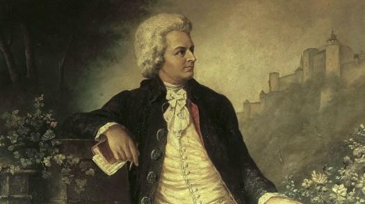 Mozart tedesco: quadro d'epoca