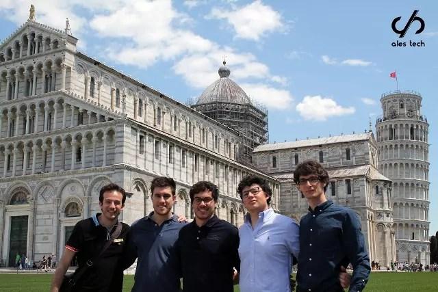 Il team della startup Ales tech
