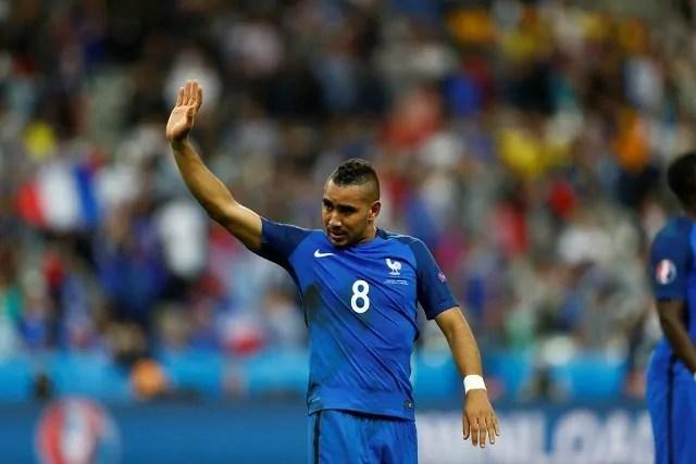 Euro2016, Francia . Romania: Dimitri Payet, il migliore in campo della Francia (ph. Uefa)