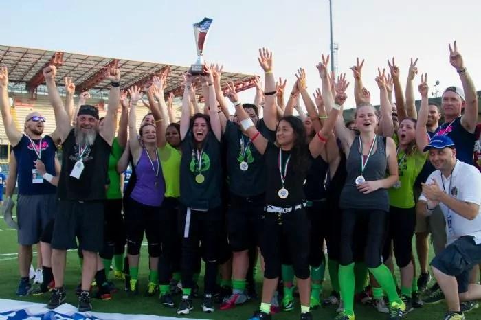 One team Milano, vincitrici della Rose bowl 2016