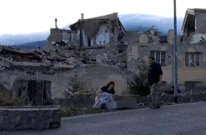 Terremoto amatrice case distrutte