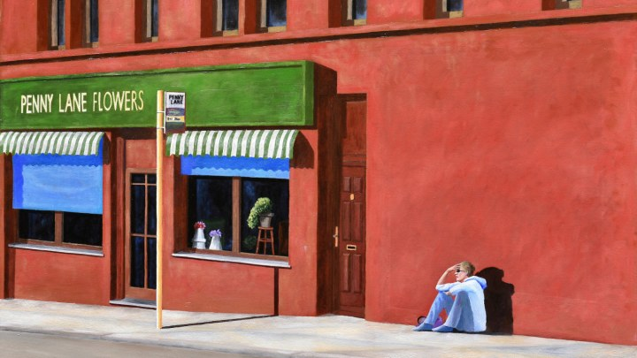 Francesco Gentilini, Penny Lane (olio su tela 100x120 del 2010), uno dei quadri della mostra Istanti.