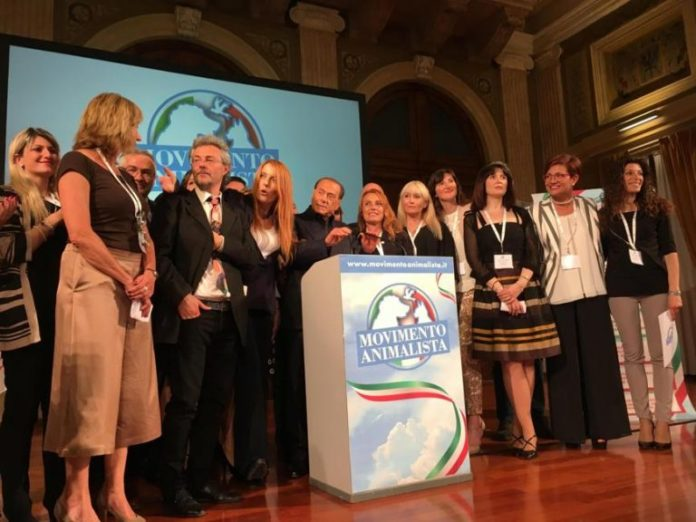 La presentazione del Movimento ambientalista a Milano con Silvio Berlusconi e Michela Brambilla (ph. Agenpress).