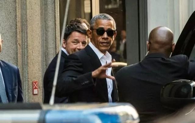 cena con Obama Renzi a Milano