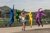 I colori simbolo della manifestazione svolta. Foto Lento FrancescoPaolo