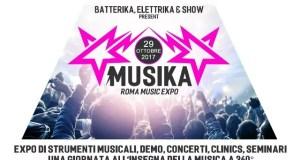 Domenica 29 Ottobre torna Musika Roma Music Expo 2017, la seconda edizione del più grande evento dedicato agli strumenti musicali e all'amore per la musica.