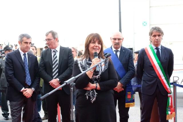 Barbara Degani, sottosegretario di Stato del ministero dell'Ambiente e della Tutela del territorio e del mare, all'apertura di Fieracavalli (Veronafiere, 26 ottobre 2017).