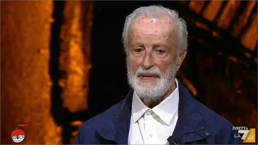 Eugenio Scalfari Vecchio Trombone Revisionista torna a La7 per parlar male dei Grillini.