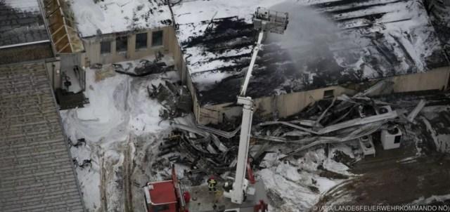 Il sito di Baumgarten in Austria esploso oggi (ph. Epe/Apa).