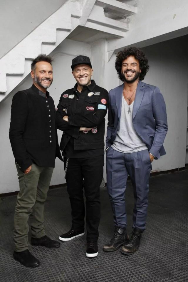 Nek Max Pezzali e Fabrizio Renga insieme in tour (ph. L. Carcavale).