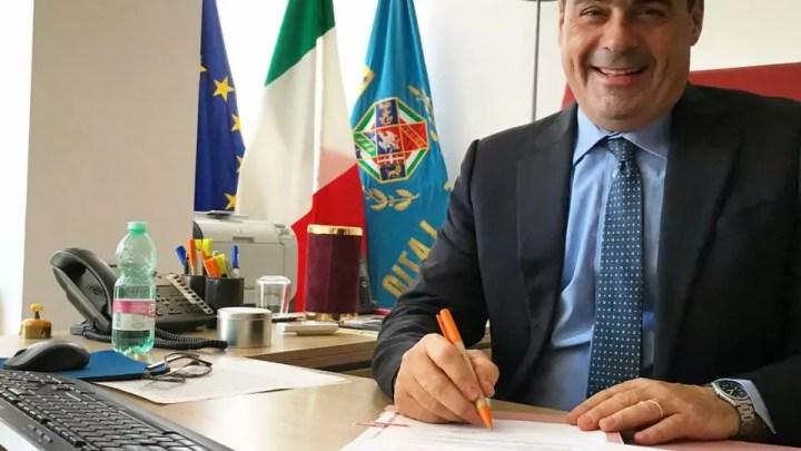 Il presidente della Regione Lazio Nicola Zingaretti divide Liberi e Uguali
