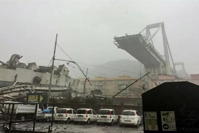 Ponte di genova crollato