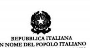Repubblica italiana in nome del popolo italiano