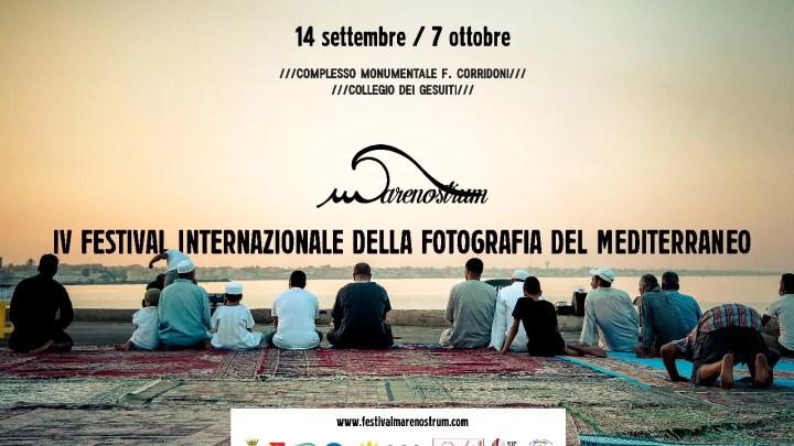 Il banner del IV Festival internazinoale della Fotografia del Mediterraneo Marenostrum.