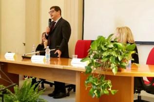 Il sottosegretario alla Istruzione e ricerca scientifica Salvatore Giuliano al liceo Stellini di Udine.