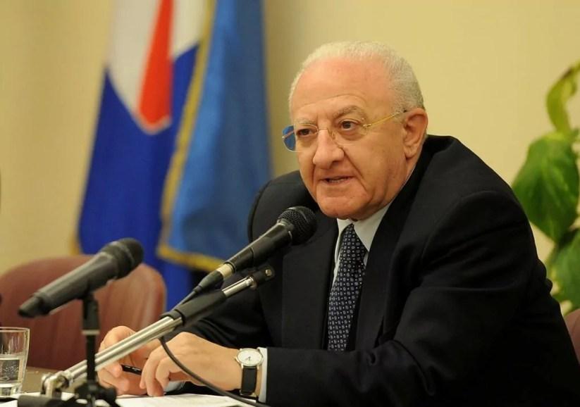 Il presidente della Giunta della Regione Campania Vincenzo De Luca (ph. R. Campania / Massimo Pica).