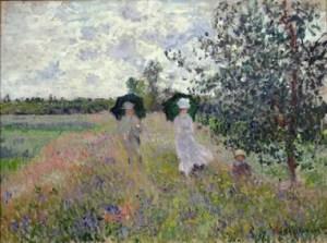 Promenade near Argenteuil, 1873 Claude Monet (1840-1926) MUSEE MARMOTTAN MONET, PARIS