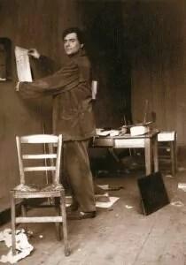 Modigliani nel suo atelier