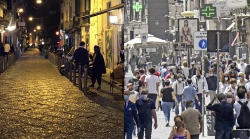 Napoli quarantena lockdown giorno notte