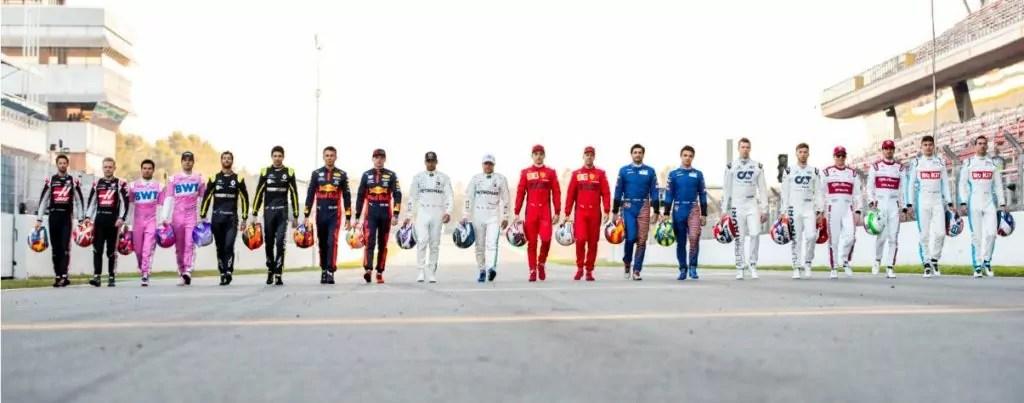 I piloti partecipanti al Campionato mondiale di Formula 1 2020 (ph. F1).