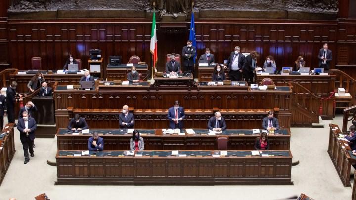 Crisi di governo -Presidente Giuseppe Conte in Parlamento ©governo.it